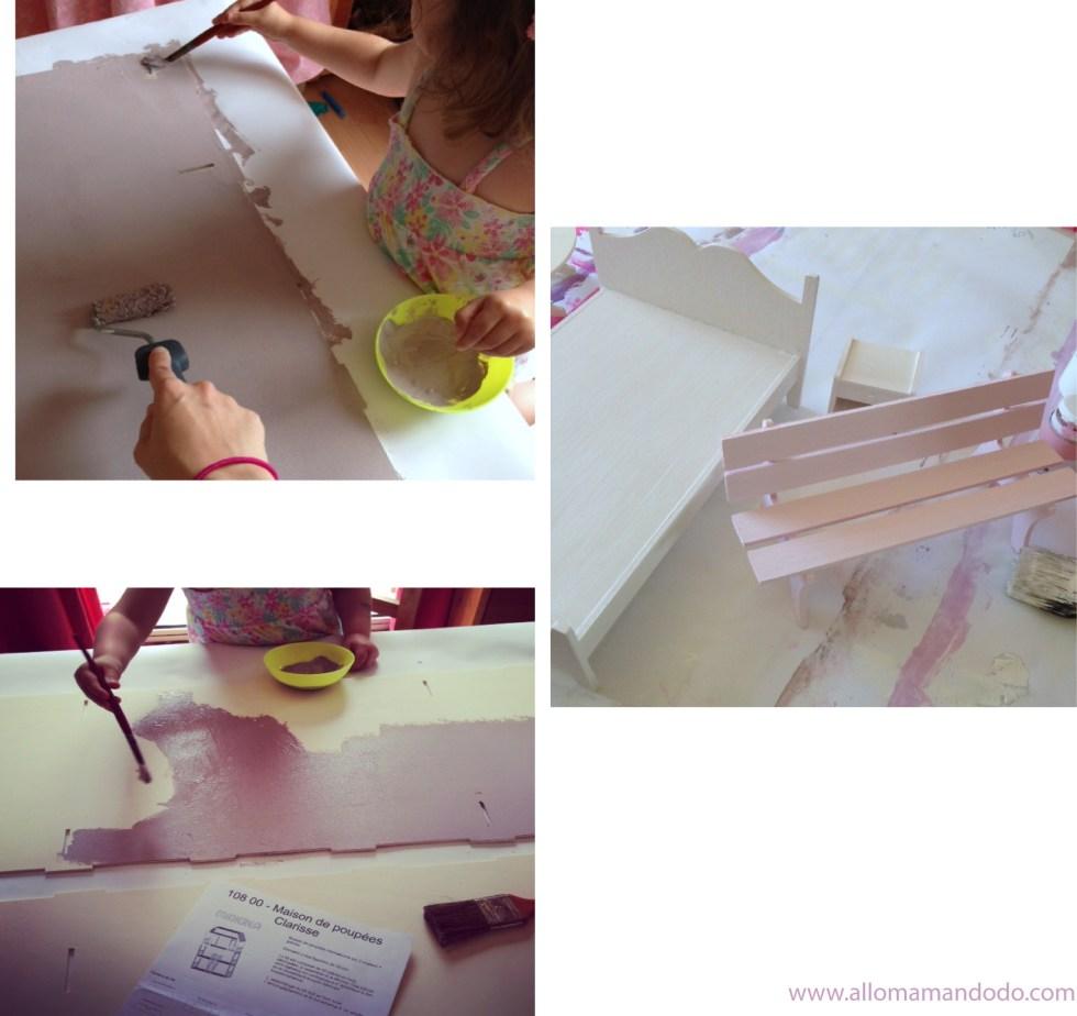 maison de poupée à peindre