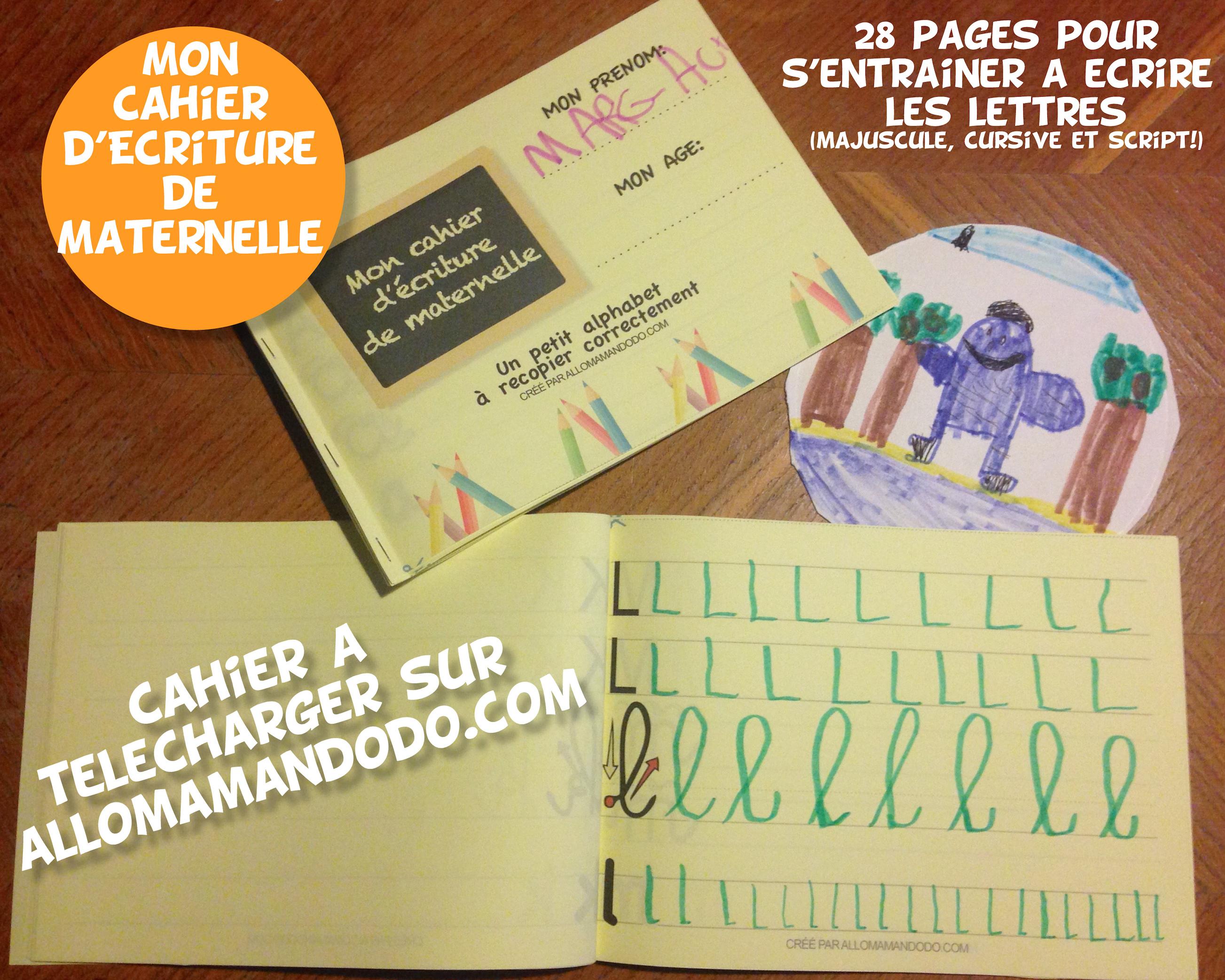 Le Cahier Décriture De Maternelle à Télécharger Gratuit Allo