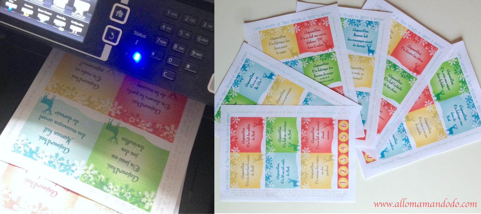 Le calendrier de l 39 avent imprimer activit s et partage - Calendrier de l avent pour homme a fabriquer ...