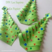 Fabrique des Sapins de Noël en papier (DIY facile et rapide!)