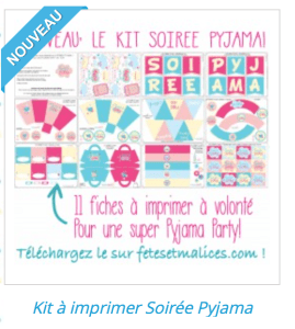 soiree pyjama kit a imprimer