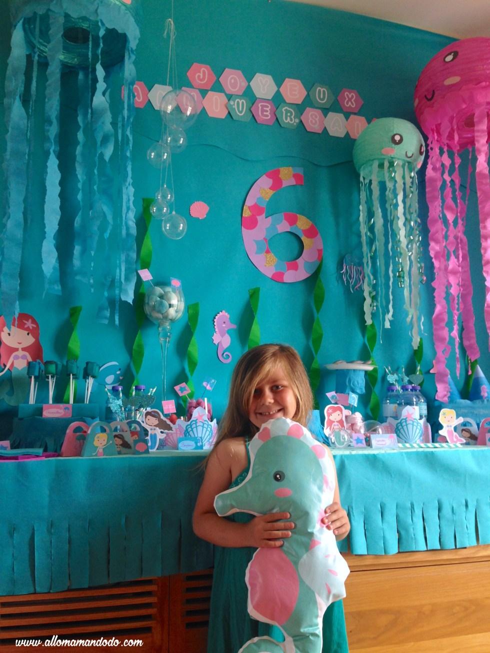 anniversaire srene fille 6 ans