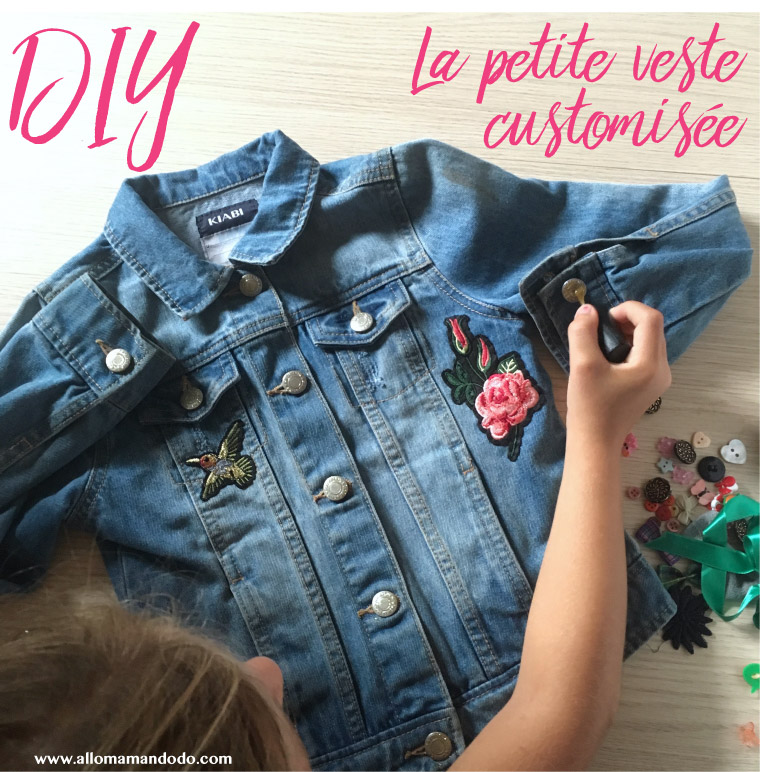 diy veste jean patch