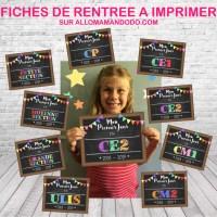 """Panneaux """"Premier jour d'école"""" à imprimer (Fiches pancartes maternelle primaire collège)"""