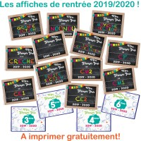 """Affiche """"Premier Jour"""" pour la rentrée des classes 2019-2020!"""