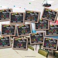 """Affiche """"Mon dernier jour ..."""" pour fêter la fin d'année scolaire! (Printable gratuit)"""