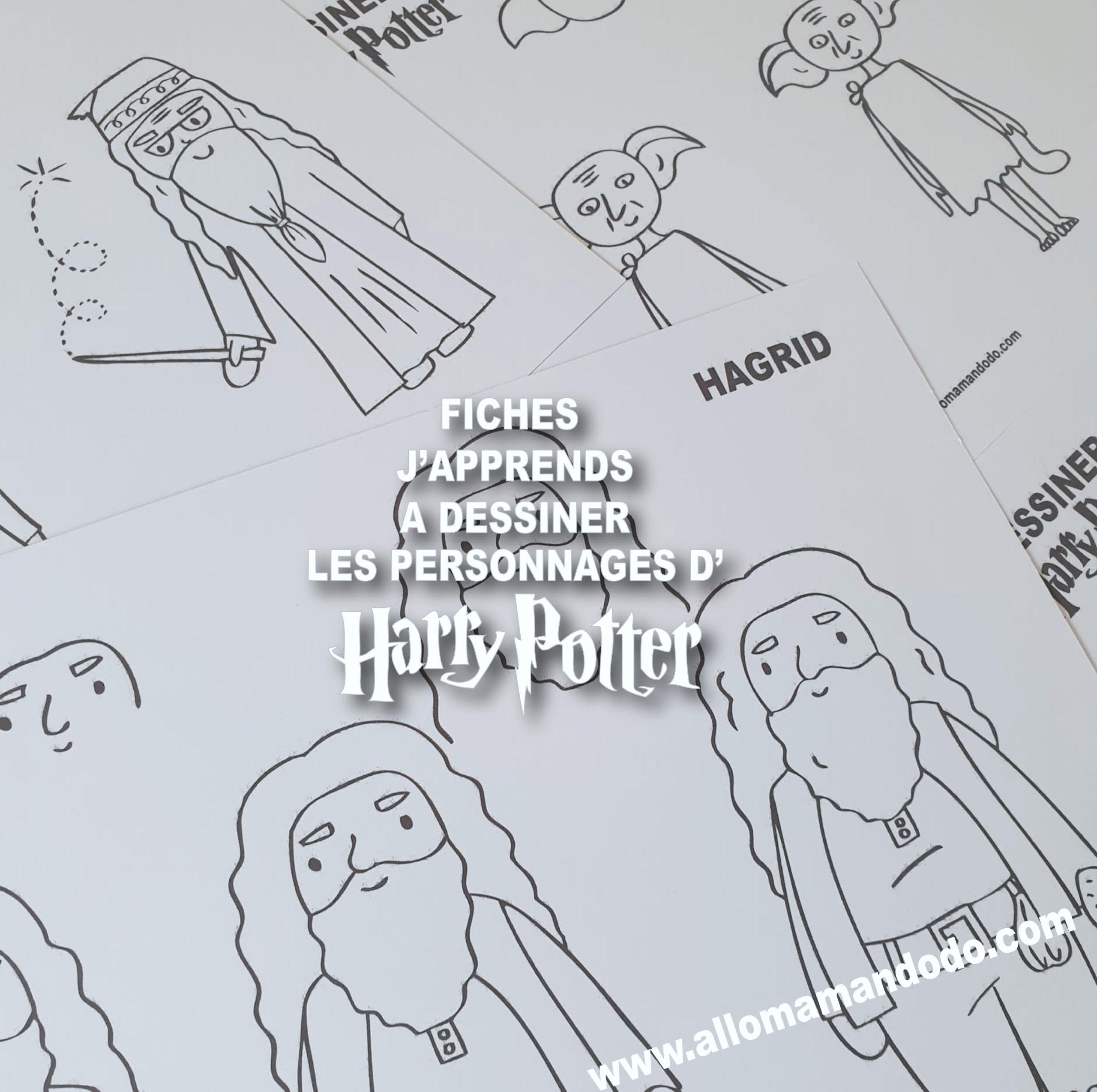 Kit J Apprends A Dessiner Harry Potter Dominos Allo Maman Dodo