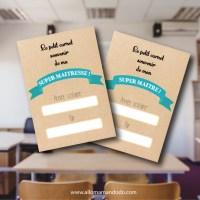Petit Carnet de Fin d'année pour maître / maîtresse (printable gratuit)