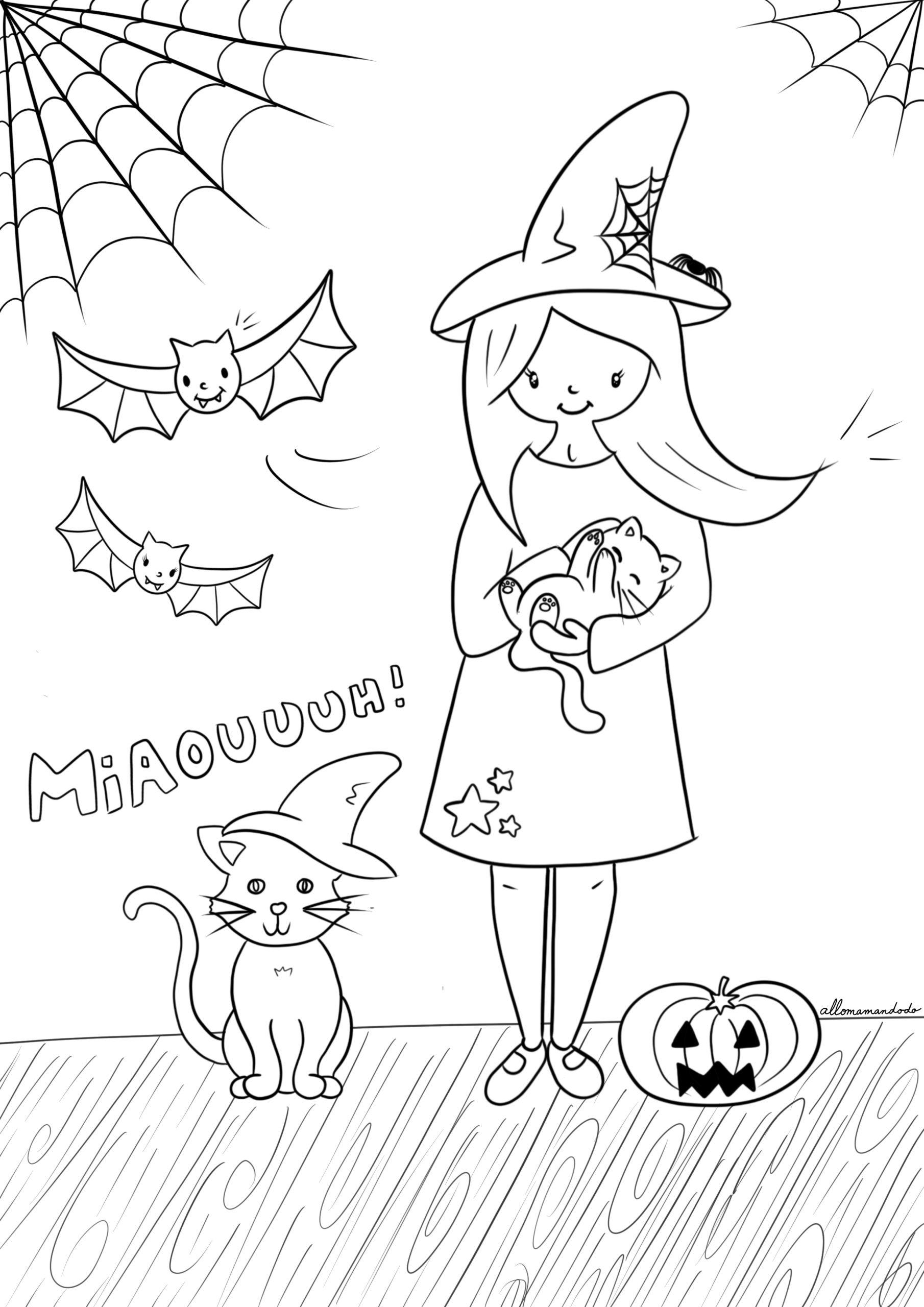 Coloriages Gratuits Pour Halloween Allo Maman Dodo