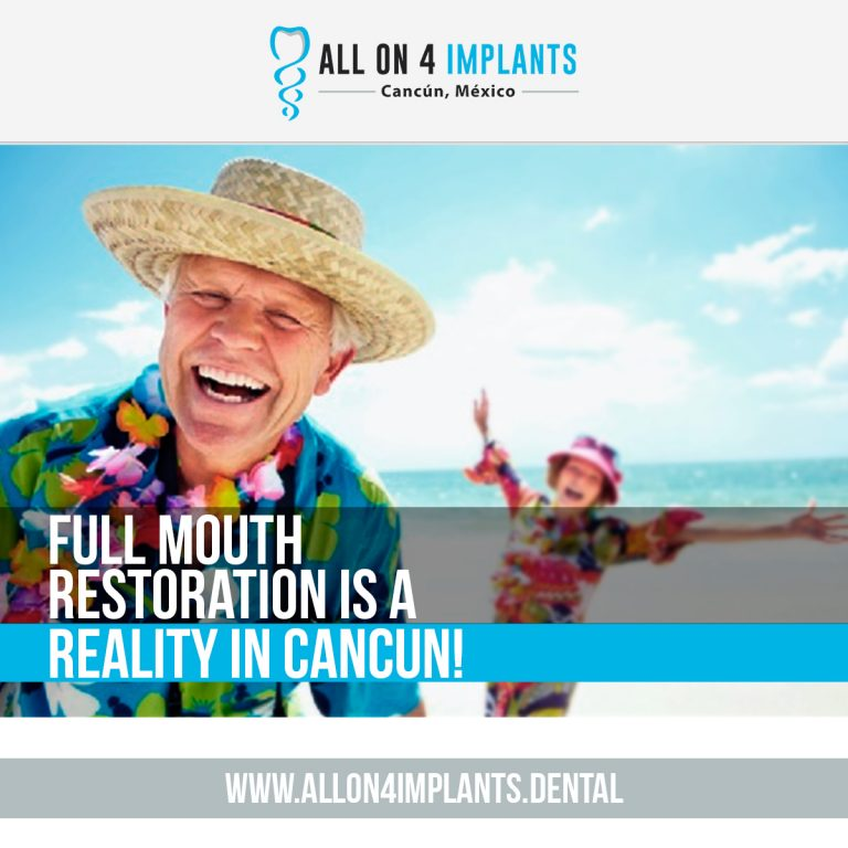 Get the best dental implants cost in Mexico, by coming to Cancun!
