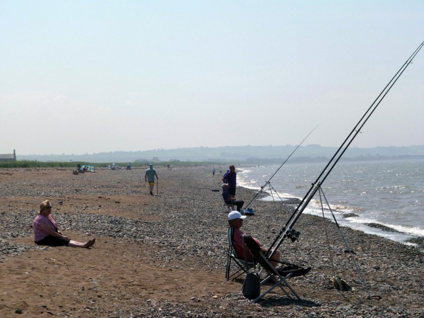 Fishing on Allonby Beach