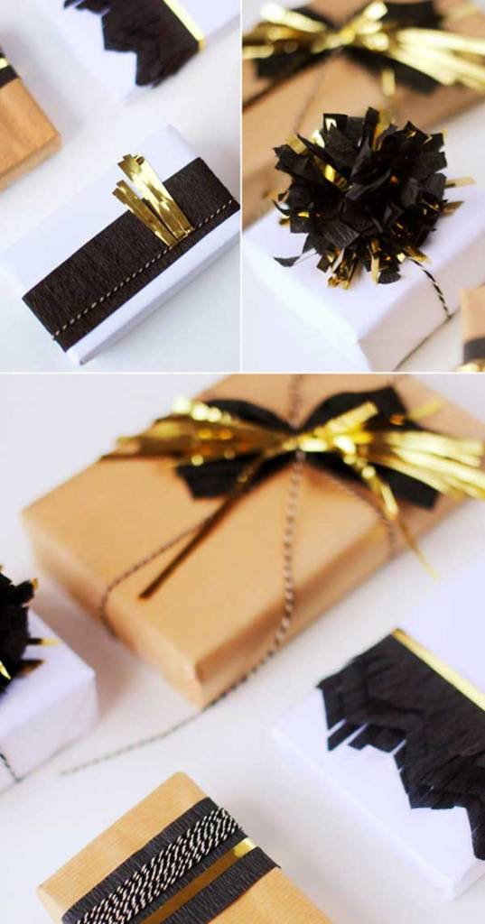golden accents will guarantee they open your gift first! (via)