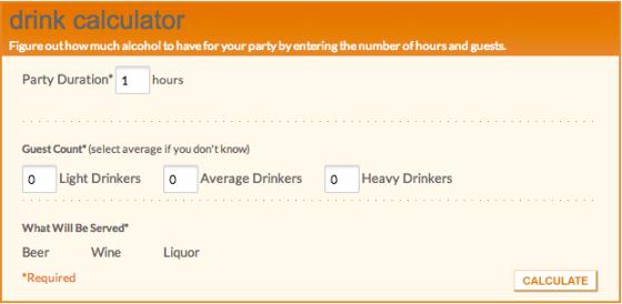 Drink Calculator