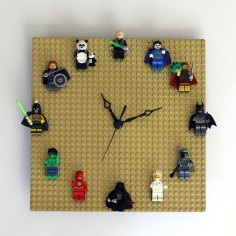 Lego Clock via http://ournerdhome.com/diy-lego-clock/