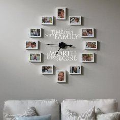 Family Frame Clock via http://howdoesshe.com/time-spent-with-family-is-worth-every-second/
