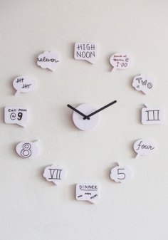 Tick Talk Clock via http://www.modcloth.com/shop/clocks-gadgets/tick-talk-clock