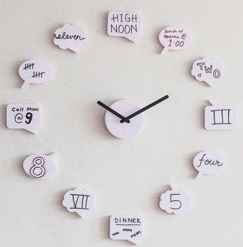 Tick Talk Clock via http://www.modcloth.com/shop/clocks-gadgets/tick-talk-clock