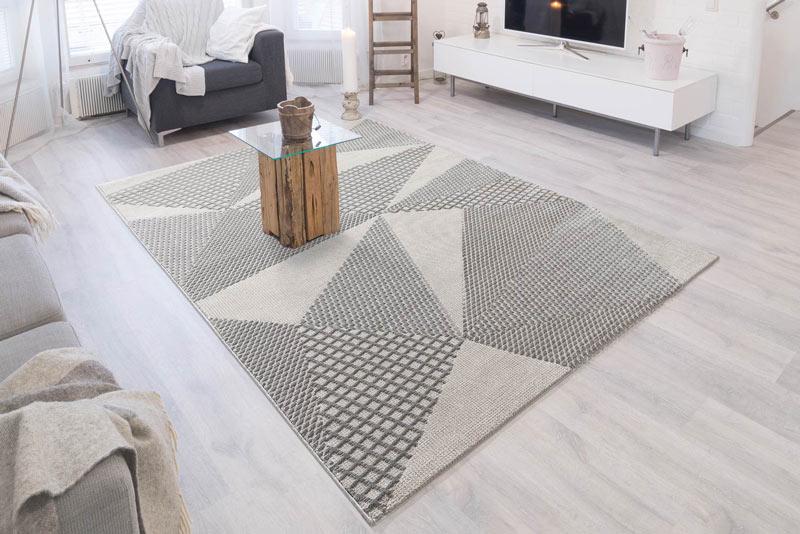 tapis moderne en polyester