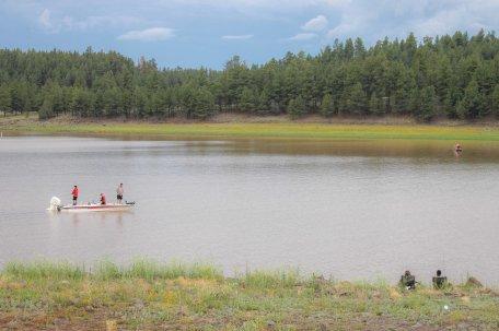 People fishing at Lake Mary