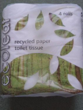 Loo roll wrapped in a compostable plant derived alternative to plastic.