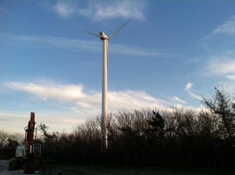 bay view: Point Lookout wind turbine