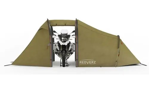 If you liked the idea of the MotoTent v2 being designed for riders but want more the Atacama Expedition tent by Redverz is going to need to be on your ...  sc 1 st  Outdoors Guide & The Top 3 Best Motorcycle Tents to Keep Your Bike Park Your Bike ...