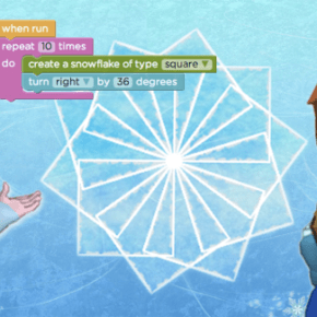 "elsa and anna teach girls to ""let it code"""