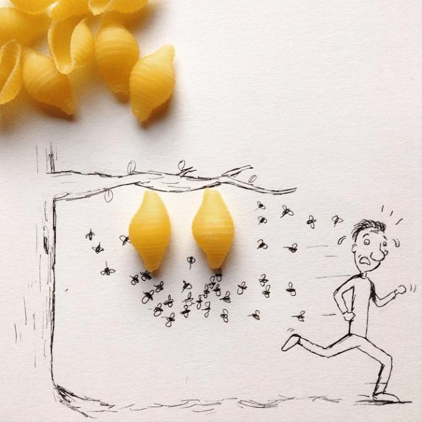 Those pasta shells are dangerous!  Image: @mr.kriss on Instagram