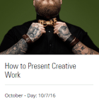 howtopresentcreativework