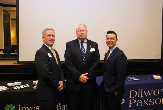 Panelists Erik Larsen from Investos Bank, Joseph Kessler from Dilworth Paxson LLP, and Ren Cicalese III from Alloy Silverstein