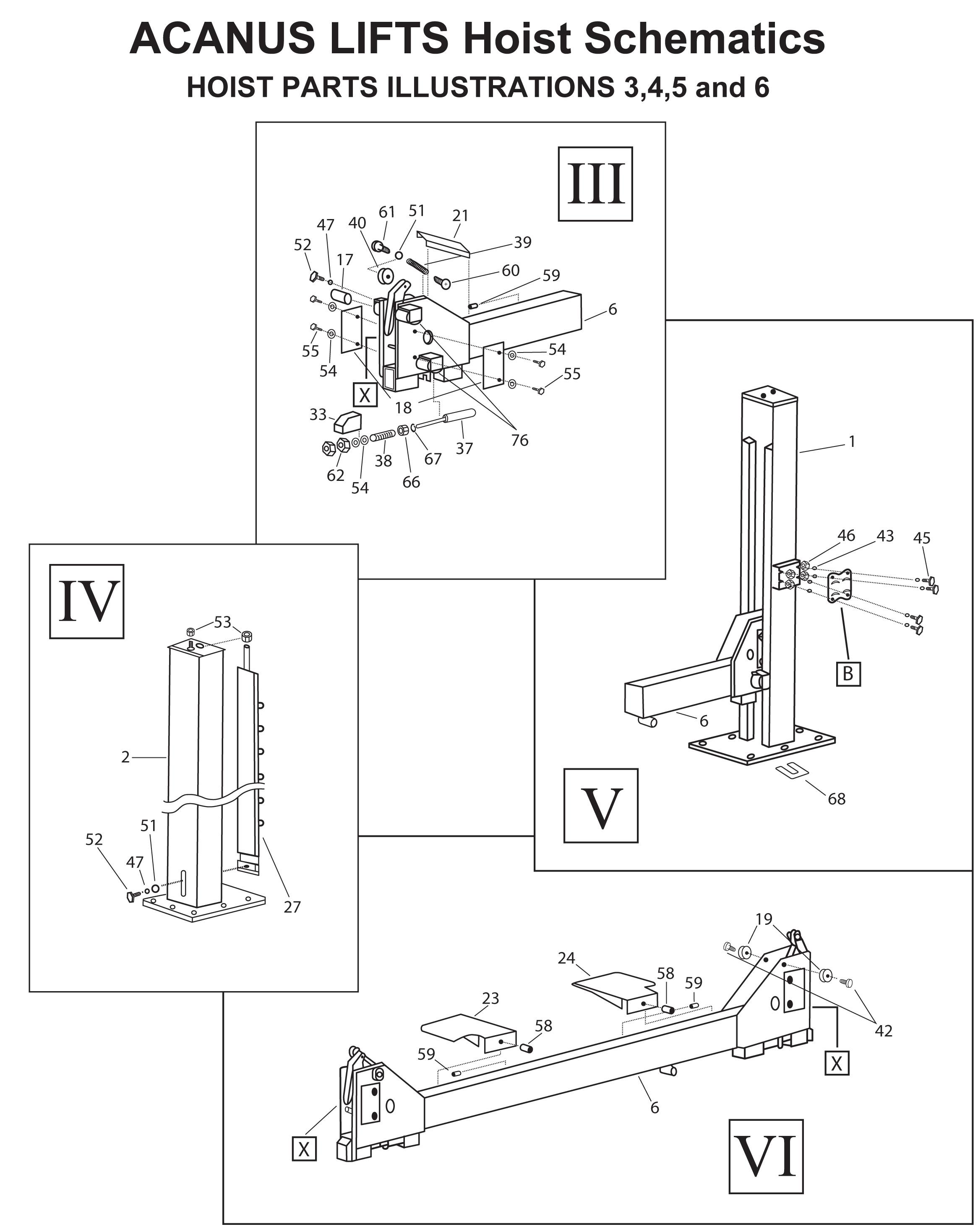 Acanus Lift Parts, Acanus Auto Lift Parts, Acanus Power