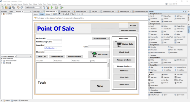 NetBeans 8.1 Visual Editor
