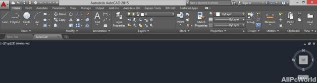 AutoCAD 2015 User Interface