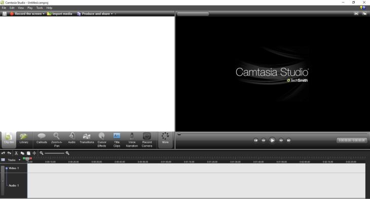 Camtasia Studio 7 User interface free download