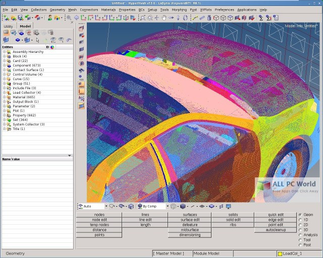 Altair HyperWorks Desktop User Interface