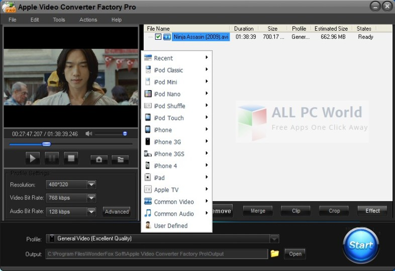Apple Video Converter Factory Pro Review