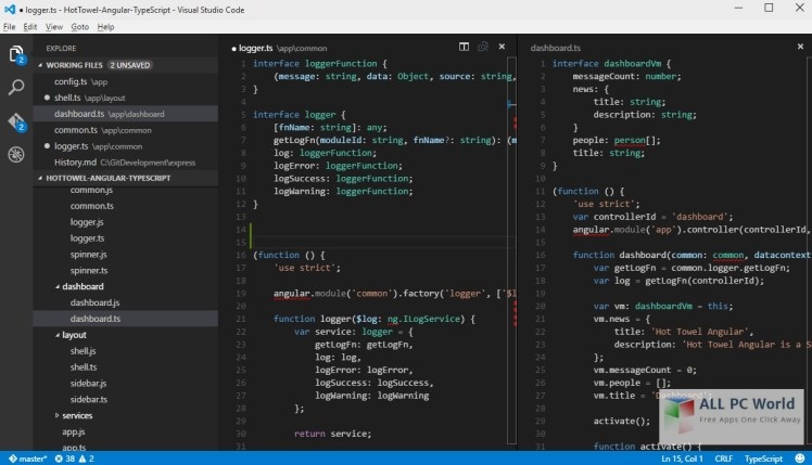 Portable Visual Studio Code 1_8_1 User Interface