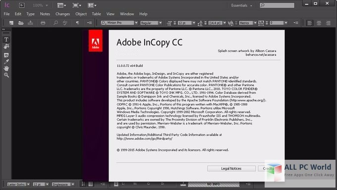 Adobe InCopy CC 2014 User Interface