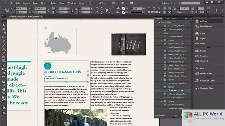 Adobe InDesign CC 2017 User Interface