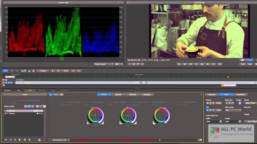 Adobe SpeedGrade CC 2015 User Interface