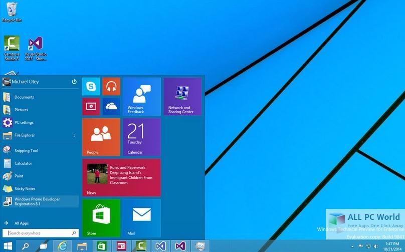 Windows 10 Home Pro Enterprise DVD User Interface