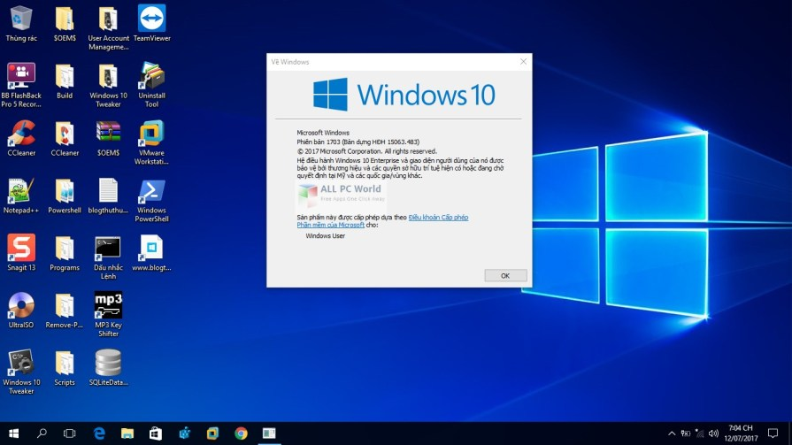 Windows 10 Lite Edition 15063.483 x64 DVD ISO Free Download