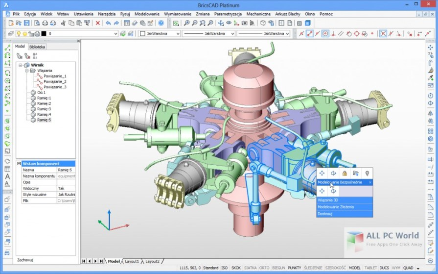 Download Bricsys BricsCAD Platinum Free