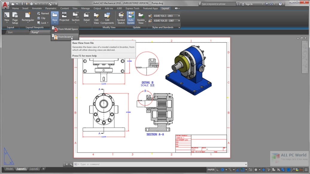 Autodesk AutoCAD Mechanical 2019 Free Download
