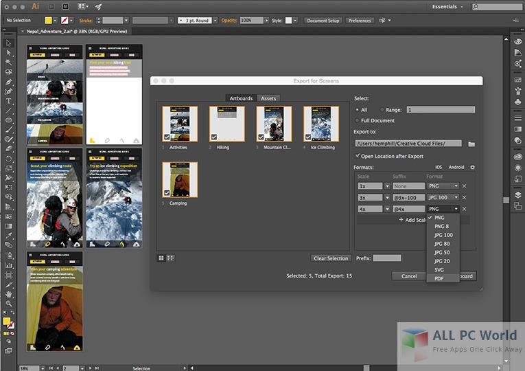 Adobe Illustrator CC 2017 User Interface