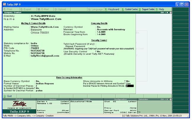 Tally ERP 9 Free Download Full Version
