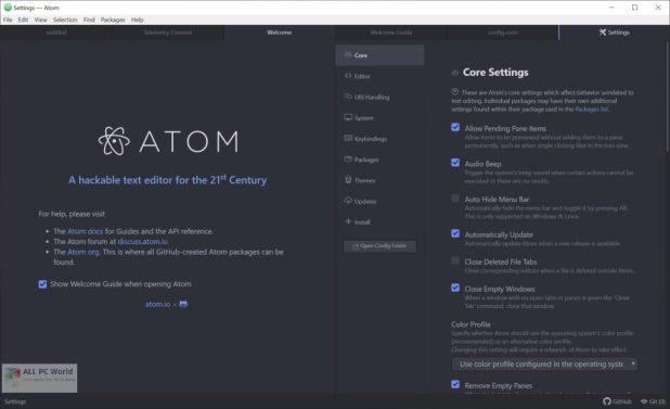 Atom Text Editor 1.48 Download