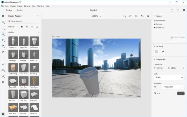 Adobe Dimension CC 2021 v3.4.4 Direct Download Link