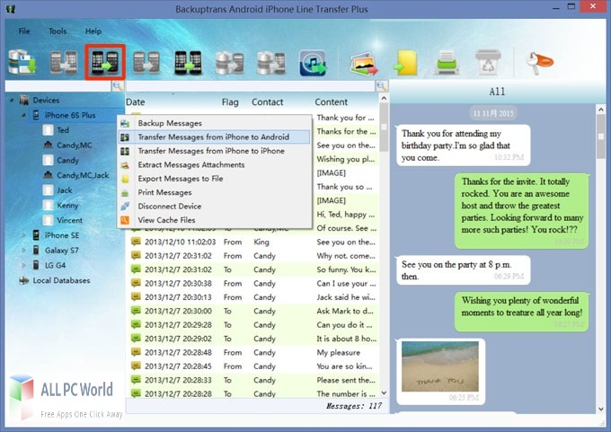 Backuptrans Android iPhone Line Transfer Plus Free Download