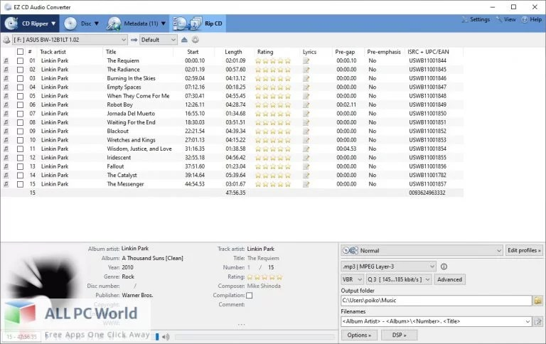 EZ CD Audio Converter Free Download allpcworlds